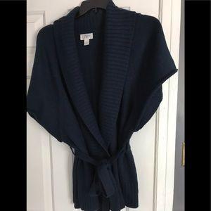 Loft Belted Dolman Sleeve Cardigan Size XL